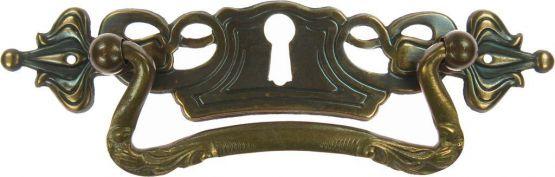 Griffschild, Mess.mit Schlüsselloch 128x27mm