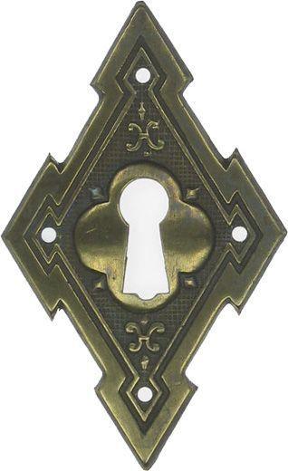Türschild, Messing 40X65 mm