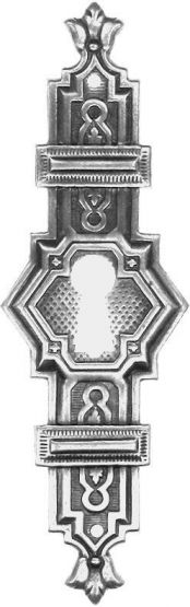 Türschild, Altsilber30x83 mm