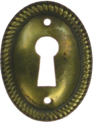 Schild, Messing 30x39 mm