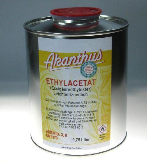 Ethylacetat 99-100%  0,75 ltr.