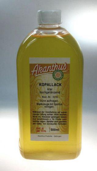 Kopallack, farblos, 0,5 ltr.