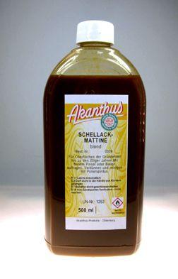 Schellackmattine  blond , 0,5 ltr.