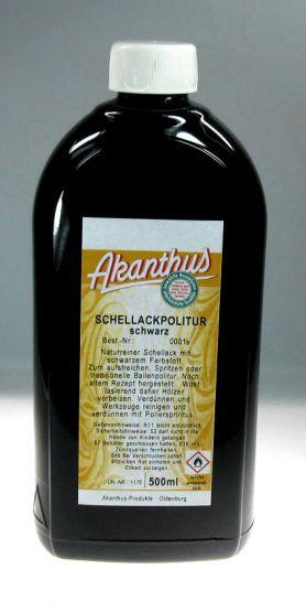 Schellackpolitur  schwarz , 500 ml