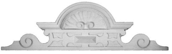Gründerzeitmuschelaufsatz, ca. 595 X195 mm,Linde