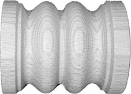 Rollo für Schnecken, Buche, 53x40 mm