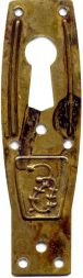 Türschild, Messing 20x68 mm
