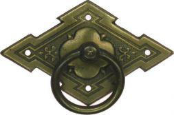 Schild mit Ring, Messing 65x40 mm