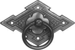 Schild mit Ring, Altsilber 65x40 mm