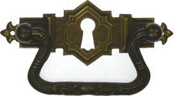Griffschild. Mess.mit Schlüsselloch 83x30 mm