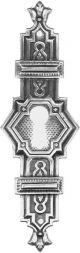 Türschild, Altsilber 33x105mm
