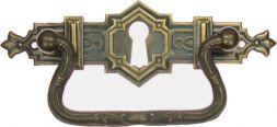 Griffschild, Mess.mit Schlüsselloch105x33mm