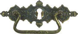 Griffschild, Mess.mit Schlüsselloch 125x45mm