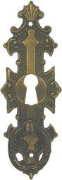 Tür-Ringschild, Messing 33x96 mm