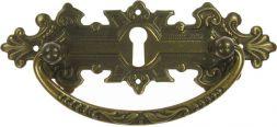 Griffschild, Mess.mit Schlüsselloch 115x3 9 mm