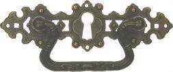 Griffschild, Mess.mit Schlüsselloch 107x32mm