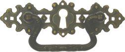 Griffschild, Mess.mit Schlüsselloch132x44 mm