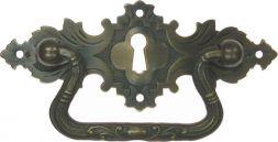 Griffschild, Mess.mit Schlüsselloch 94x38 mm