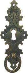 Tür-Ringschild, Messing mit Loch  38x94 mm