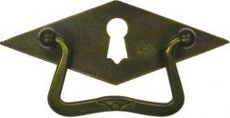 Griffschild mit Schlüsselloch,Mess. 102x38 mm