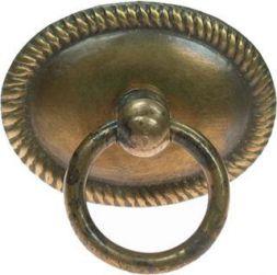 Schild mit Ring, Messing 39x30 mm