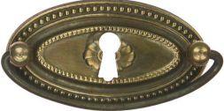 Griffschild mit Schlüsselloch,Mess.  66x36 mm