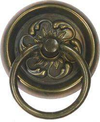 Schild mit Ring,Messing 50 mm