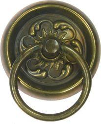 Schild mit Ring,Messing 63 mm