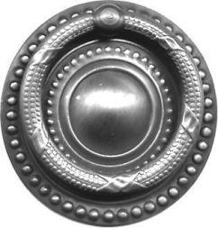 Schild mit Ring, Messing 55 mm