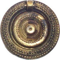 Ringschild. Messing gegossen 43 mm