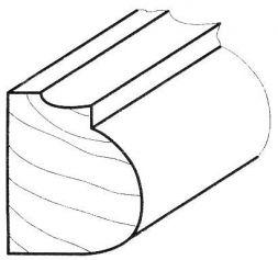 Zierleiste Kiefer 17 x 22 mm, 2m lang