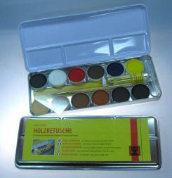Retuschierkasten, 12 Farben,König auf Nitrobasis