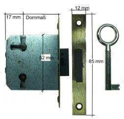 Einsteckschloß rechts/links/lade mit Schlüssel