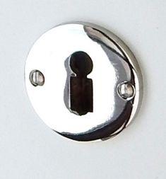 Schlüssellochrosette  Mod.Frankfurt 49 mm vernickelt BB Loch