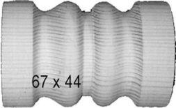 Rollo für Schnecken, Kiefer, 67 X 44 mm