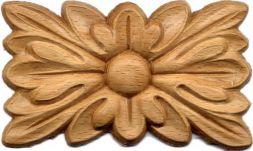 Holzrosette rechteckig 100x60x6