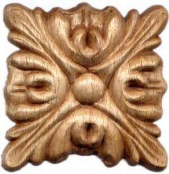 Holz-Rosetten, viereckig, 65x65x8mm Buche