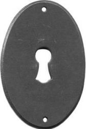 Ovalbeschlag messing, 45x32 mm