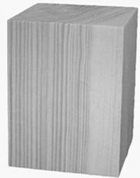 Hinterfuß kiefer, 60x60x H80 mm