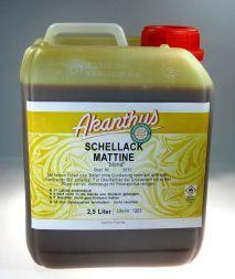 Schellackmattine  dunkel , 2,5 ltr.