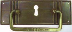 Griffschild,Mess.mit Schlüsselloch 113x 39mm