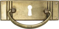 Griffschild,Mess.mit Schlüsselloch 80x 28mm