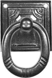 Ringschild, Altsilber 31x31mm