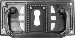 Griffschild, Mess.mit Schlüsselloch 85x40mm