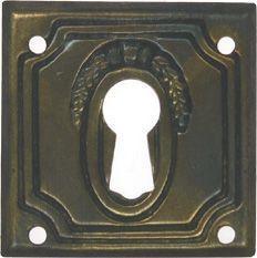 Schild, Messing 30 x 30 mm