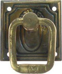 Ringschild. Messing 30 x 30 mm