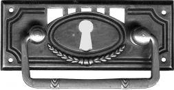 Griffschild, Mess.mit Schlüsselloch 33x83 mm