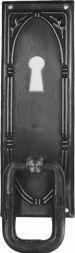 Türschild, Messing mit Ring 34x100mm